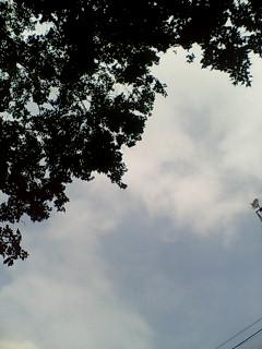雲間からの空